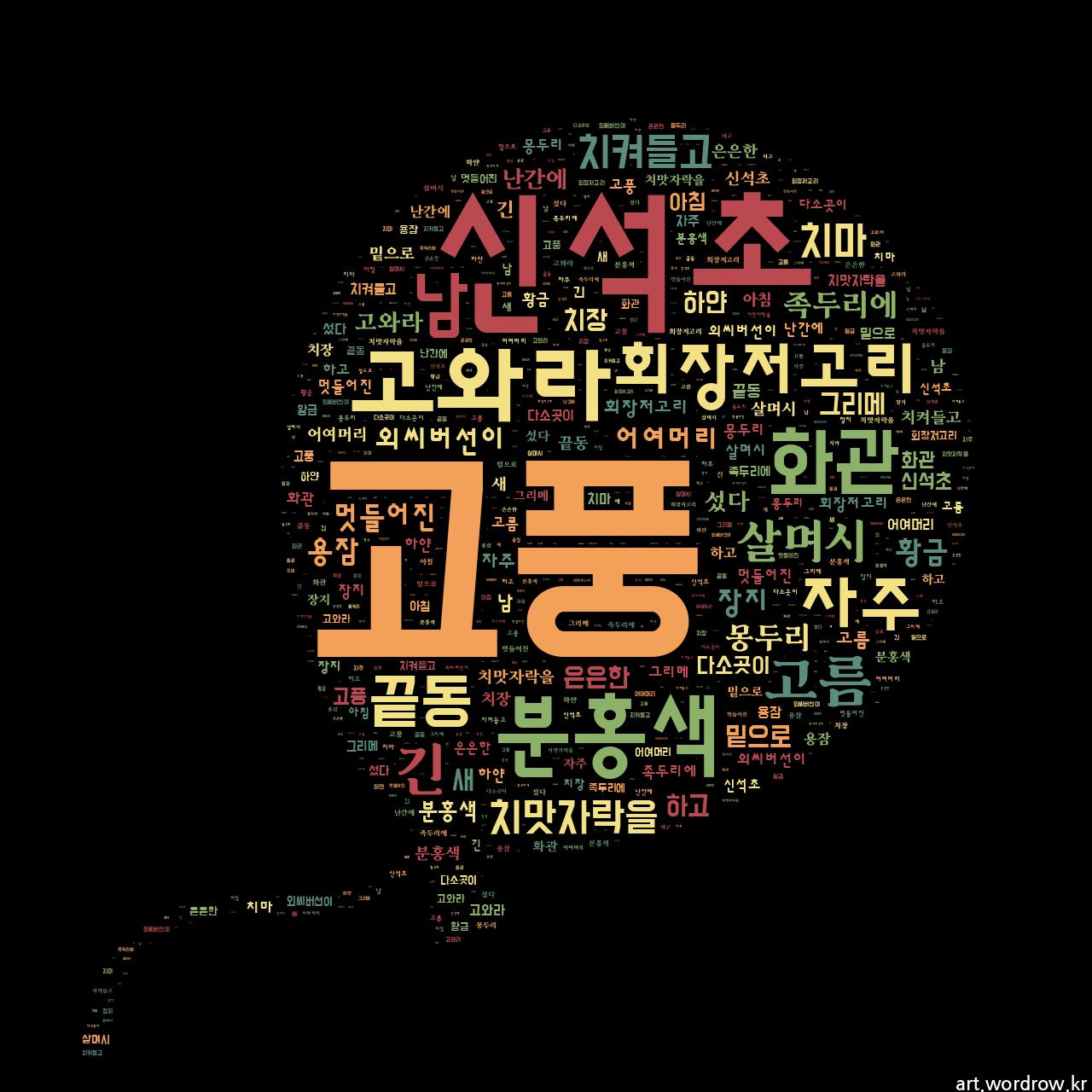 워드 아트: 고풍 [신석초]-2